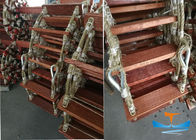 Wooden Material Solas Embarkation Ladder Antiskid Surface For Climbing