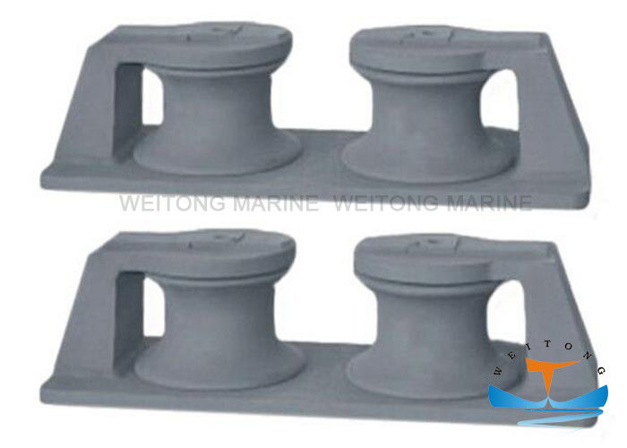 Type B Marine Mooring Equipment Cast Double Roller Roller Fairlead Chock