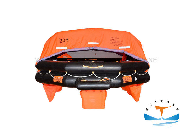 20 Person Marine Life Raft Approval Throwing With EC / CCS Certificate