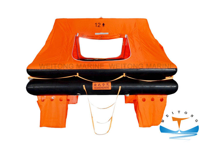 Small Craft Life Raft Survival , Self Inflating Emergency Raft With 12 - Person