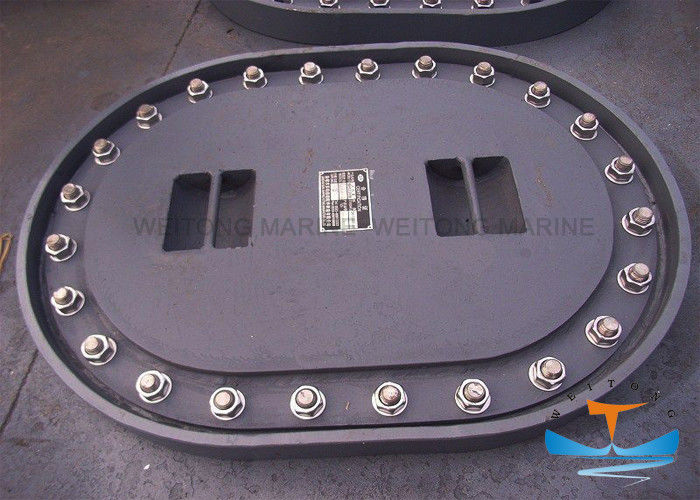 Manhole Marine Hatch Cover 450x350-800x600mm Long Circle Shape With M20 Bolt