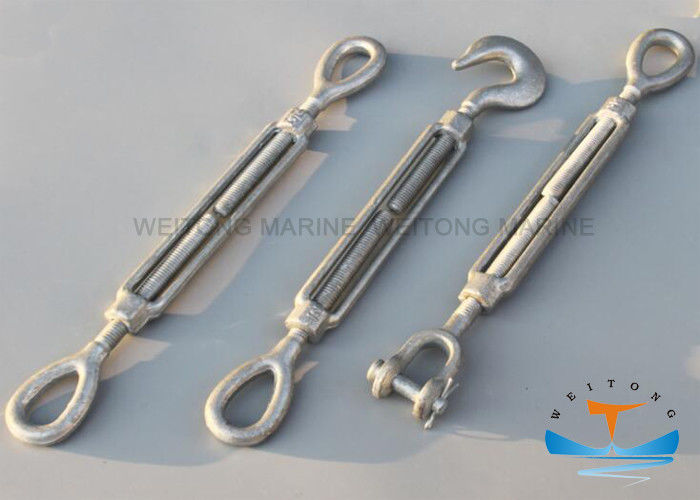 Forged Rigging Lifting Equipment Adjusted Tension For Marine Turnbuckle
