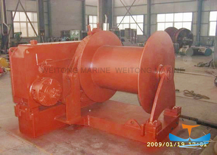 High Speed Marine Electric Winch Less Noise 30-400kn Working Load Low Maintenance