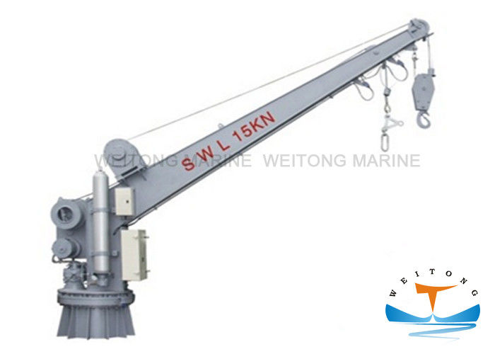 Dydraulic Motor Rescue Boat Davit , Single Arm Slewing Marine Davit Crane