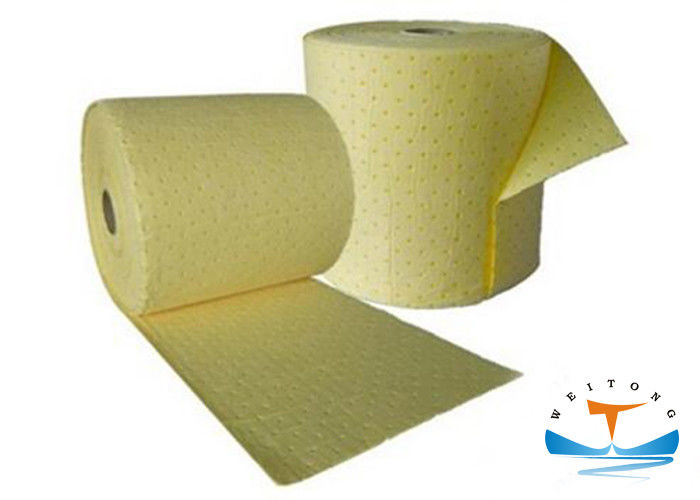Spill Response Industrial Oil Absorbent Rolls 2-5mm Thickness With High Absorbency