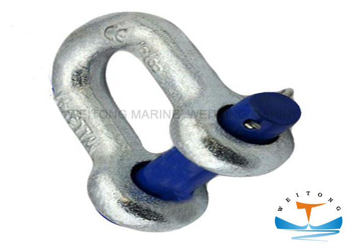 G215 Shackle With Screw Pin , Round Pin Chain Shackle 5/16in Nominal Size