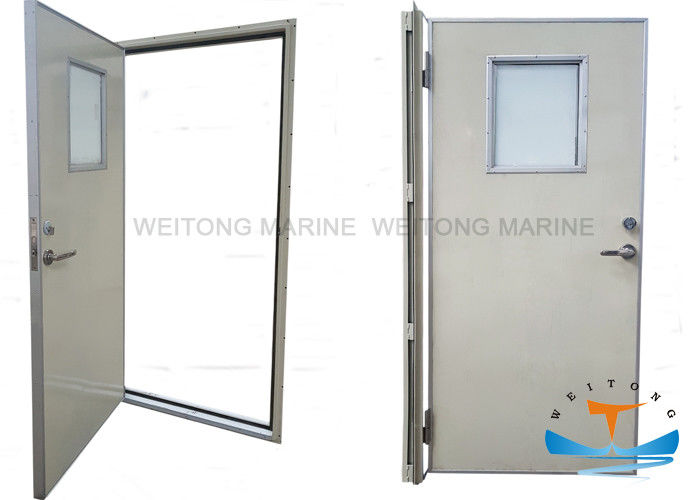 Quick Open Aluminum Marine Doors Anodized Baking Surface With Kick - Out Panel​