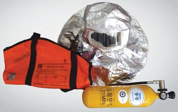 Marine Escape Breathing Apparatus , 15 Minute Escape Packs 21bar Working Pressure