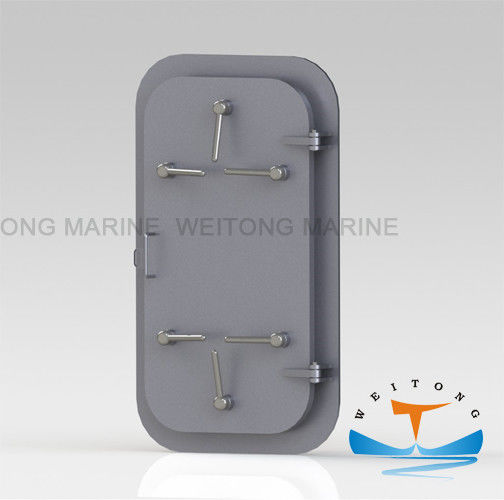 1200×600mm Watertight Bulkhead Doors , Watertight Doors Solas With Marine Hand Wheel