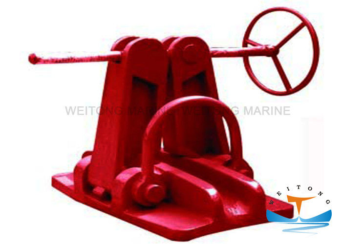 Cast Steel / Iron Marine Mooring Equipment ,  Screw Type Marine Chain Stopper