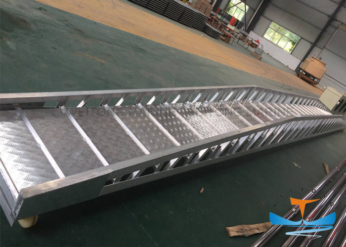 Marine Aluminum Gangway Steel Wharf Ladder For Shipment 8 - 15m Length